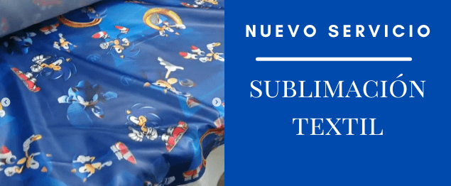 Sublimación textil en tela