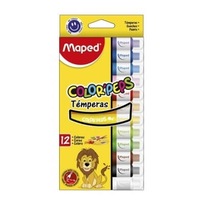 Tempera Maped X12 U Colores Surtidos