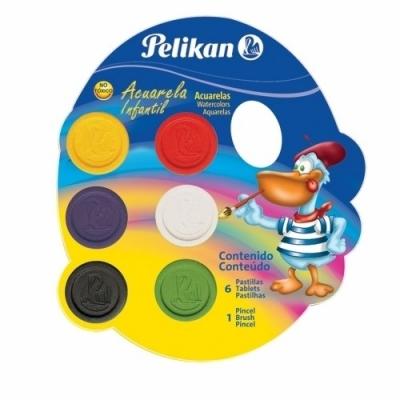 Acuarela Pelikan infaltil x 6 Colores