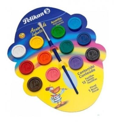 Acuarela Pelikan Infantil x12 Colores