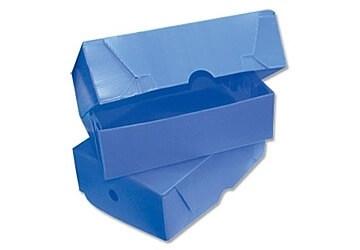 Caja De Archivo  Plastica Azul Oficio Nro.2