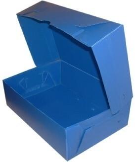 Caja de Archivo Plastica Azul Oficio Nro.3