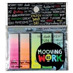Banderitas Señaladores Mooving Sing Color Traslucido Neon X125