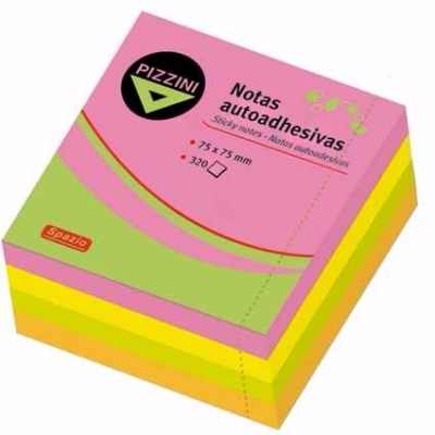 Notas Adhesivas Pizzini  75 X75x320 Fluo