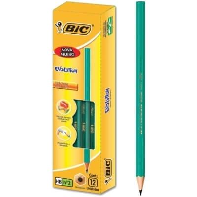 Lapiz Grafito Bic Evolution Hb X12u.