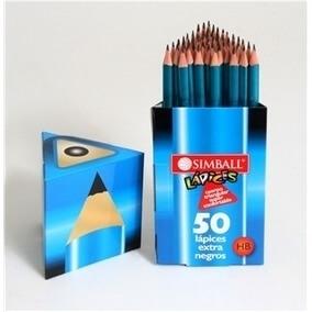 Lapiz Grafito Simballl Triangular X50u.