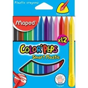 Crayones Maped x12 Plasticas