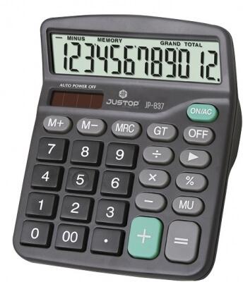 Calculadora Justop Jp-837 12 Digitos