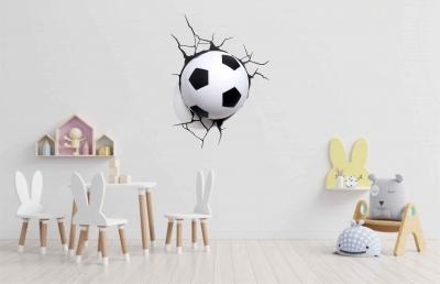Vinilo impreso efecto 3D fútbol chico - 60x60cm - MODELO: 3D_0001