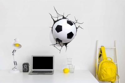 Vinilo impreso efecto 3D fútbol mediano - 80x80cm - MODELO: 3D_0001