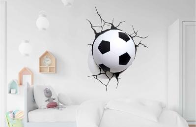 Vinilo impreso efecto 3D Futbol grande - 100x100cm - MODELO: 3D_0001