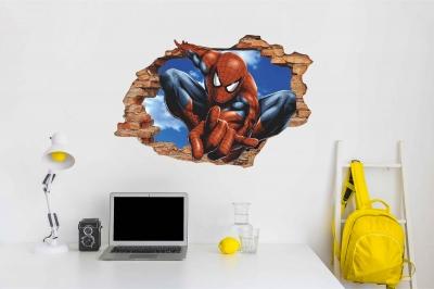 Vinilo impreso efecto 3D Spiderman - 60x60cm - MODELO: 3D_0004