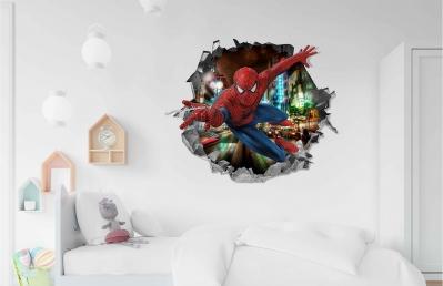 Vinilo impreso efecto 3D Spiderman - 60x60cm - MODELO: 3D_0006