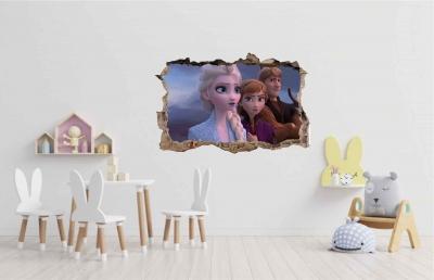 Vinilo impreso efecto 3D Frozen - 60x60cm - MODELO: 3D_0018