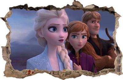 Vinilo impreso efecto 3D Frozen - 80x80cm - MODELO: 3D_0018