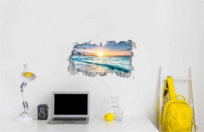 Vinilo impreso efecto 3D atardecer -  60x60cm - MODELO: 3D_0027