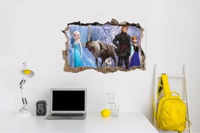 Vinilo impreso efecto 3D Frozen - 60x60cm - MODELO: 3D_0020