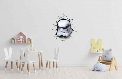 Vinilo impreso efecto 3D Stormtrooper de Star Wars - 60x60cm - MODELO: 3D_0022