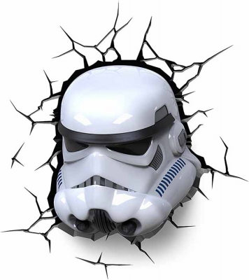 Vinilo impreso efecto 3D stormtrooper - 80x80cm - MODELO: 3D_0022