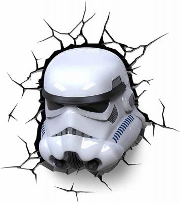 Vinilo impreso efecto 3D stormtrooper - 100x100cm - MODELO: 3D_0022