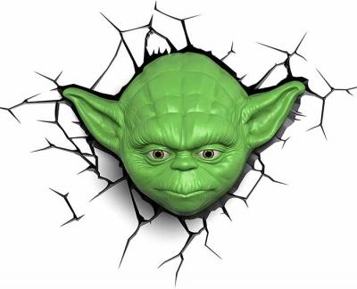 Vinilo impreso efecto 3D Yoda - 100x100cm - MODELO: 3D_0024