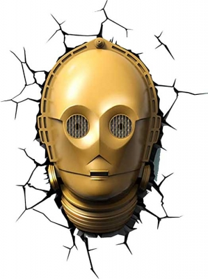 Vinilo impreso efecto 3D C-3PO - 100x100cm - MODELO: 3D_0025