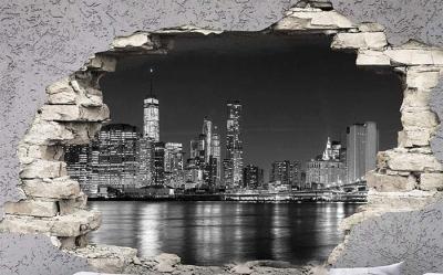 Vinilo impreso efecto 3D Nueva York - 100x100cm - MODELO: 3D_0030