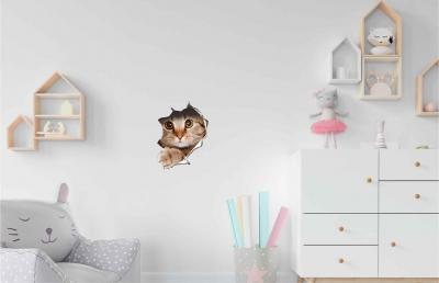 Vinilo impreso efecto 3D gatito beige chico -  60x60cm - MODELO: 3D_0041