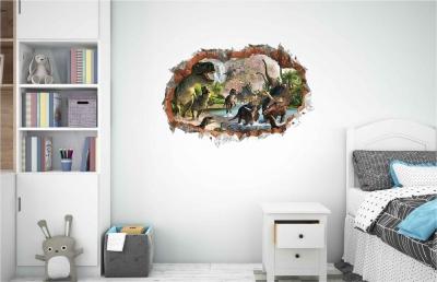Vinilo impreso efecto 3D Dinosaurios - 60x60cm - MODELO: 3D_0057