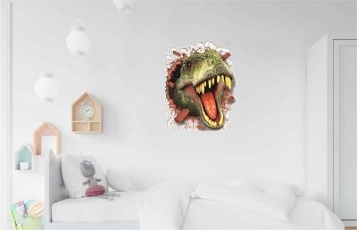 Vinilo impreso efecto 3D Tiranosaurio Rex - 60x60cm - MODELO: 3D_0058