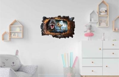 Vinilo impreso efecto 3D Dinosaurios - 60x60cm - MODELO: 3D_0060