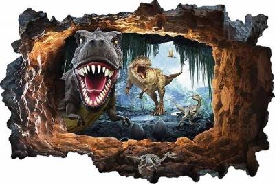 Vinilo impreso efecto 3D Dinosaurios - 80x80cm - MODELO: 3D_0060