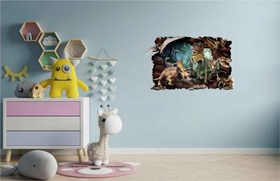 Vinilo impreso efecto 3D Dinosaurio - 60x60cm - MODELO: 3D_0061