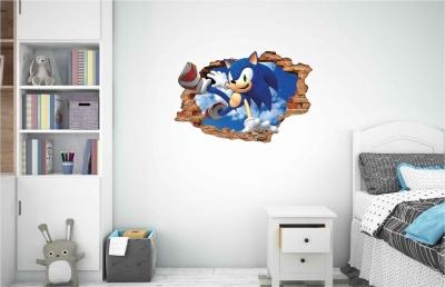 Vinilo impreso efecto 3D Sonic -  60x60cm - MODELO: 3D_0067