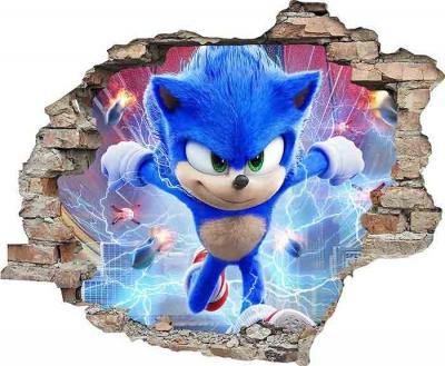 Vinilo impreso efecto 3D Sonic - 80x80cm - MODELO: 3D_0069