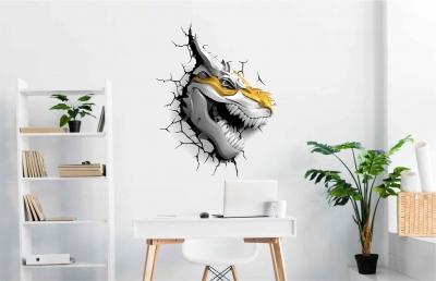Vinilo impreso efecto 3D Dragón de Metal - 60x60cm - MODELO: 3D_0083