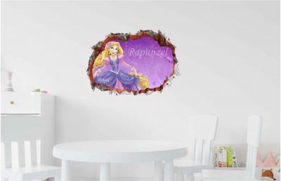 Vinilo impreso efecto 3D Rapunzel - 60x60cm - MODELO: 3D_0093