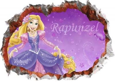 Vinilo impreso efecto 3D Rapunzel - 100x100cm - MODELO: 3D_0093
