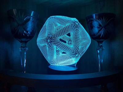 Lámpara LED 3D - MOD: Led_00001