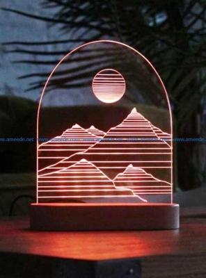 Lámpara de Paisaje LED 3D - MOD: Led_00004