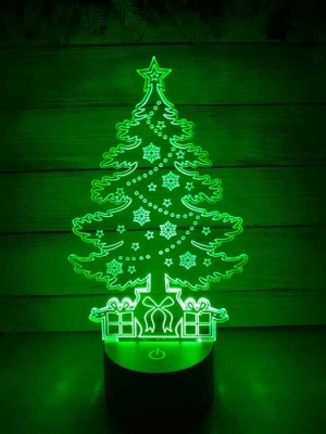 Lámpara de Árbol de Navidad LED 3D - MOD: Led_00005