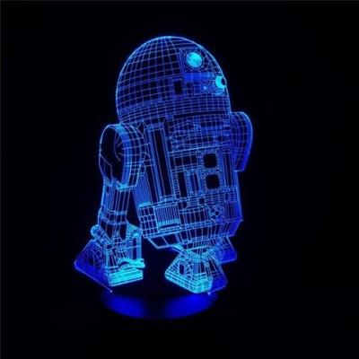 Lámpara Star Wars - R2d2 LED 3D - MOD: Led_00006