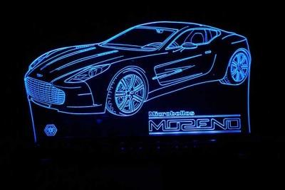 Lámpara de Auto LED 3D - MOD: Led_00007