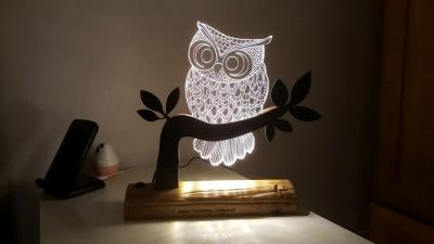 Lámpara de Buhó LED 3D - MOD: Led_00010