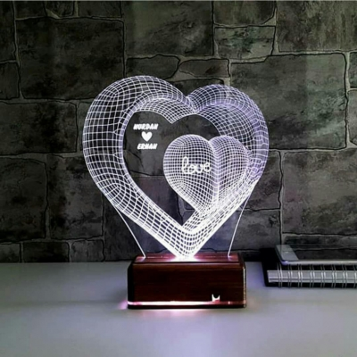 Lámpara de corazón/amor LED 3D - MOD: Led_00014