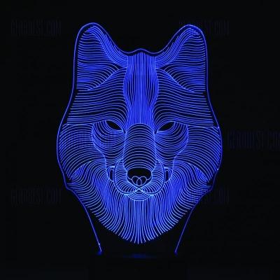 Lámpara de Zorro LED 3D - MOD: Led_00032