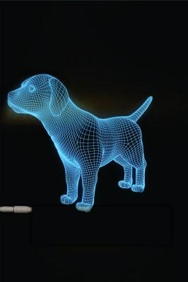 Lámpara de Perro LED 3D - MOD: Led_00042