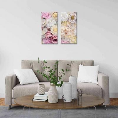 Rosas - 2 módulos - 40 x 60cm- Modelo: CDM_004
