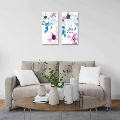 Flores - 2 módulos - 60 x 60cm - Modelo: CDM_002