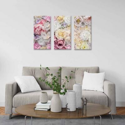 Rosas - 3 módulos - 90 x 60cm - Modelo: CDM_004